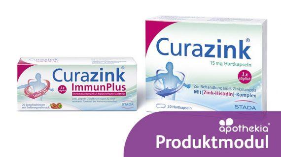 Teaser-Grafik zum apothekia-Produktmodul Curazink