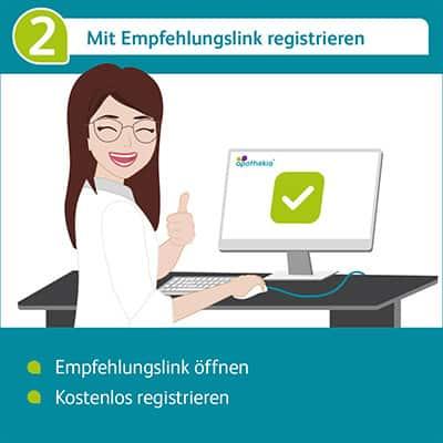 Als PTA oder PKA mit dem Empfehlungslink registrieren