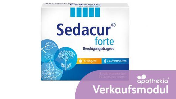 Teaser-Grafik zum apothekia-Verkaufsmodul Sedacur