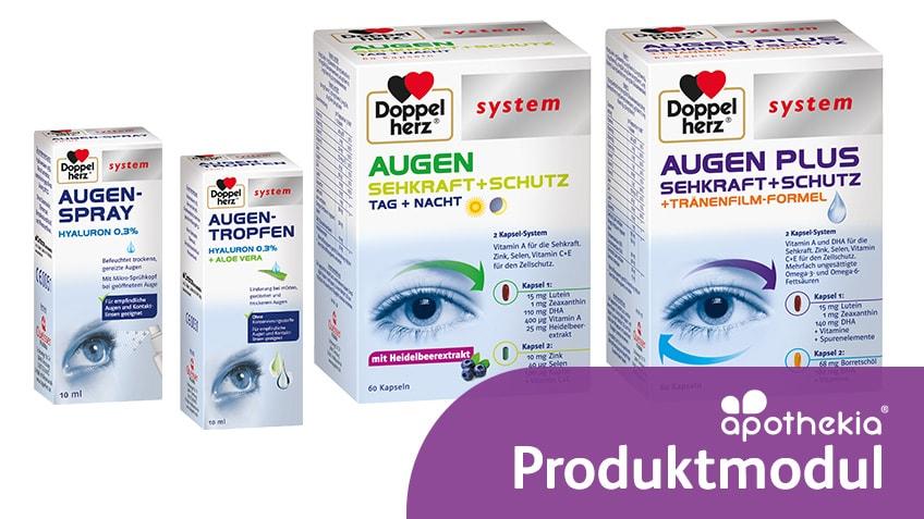 Teaser-Grafik zum apothekia-Lernmodul Doppelherz system Augengesundheit